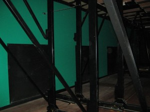 Verdringing onder tribune, Jan van Besouwehuis, Goirle